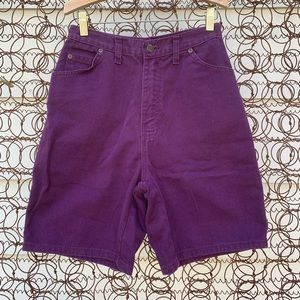 Vintage 90s Made in USA high rise jean shorts